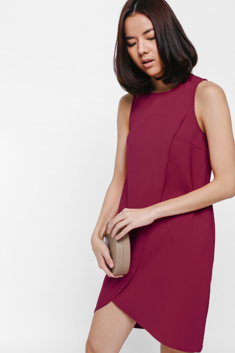 Adra Asymmetrical Layer Dress