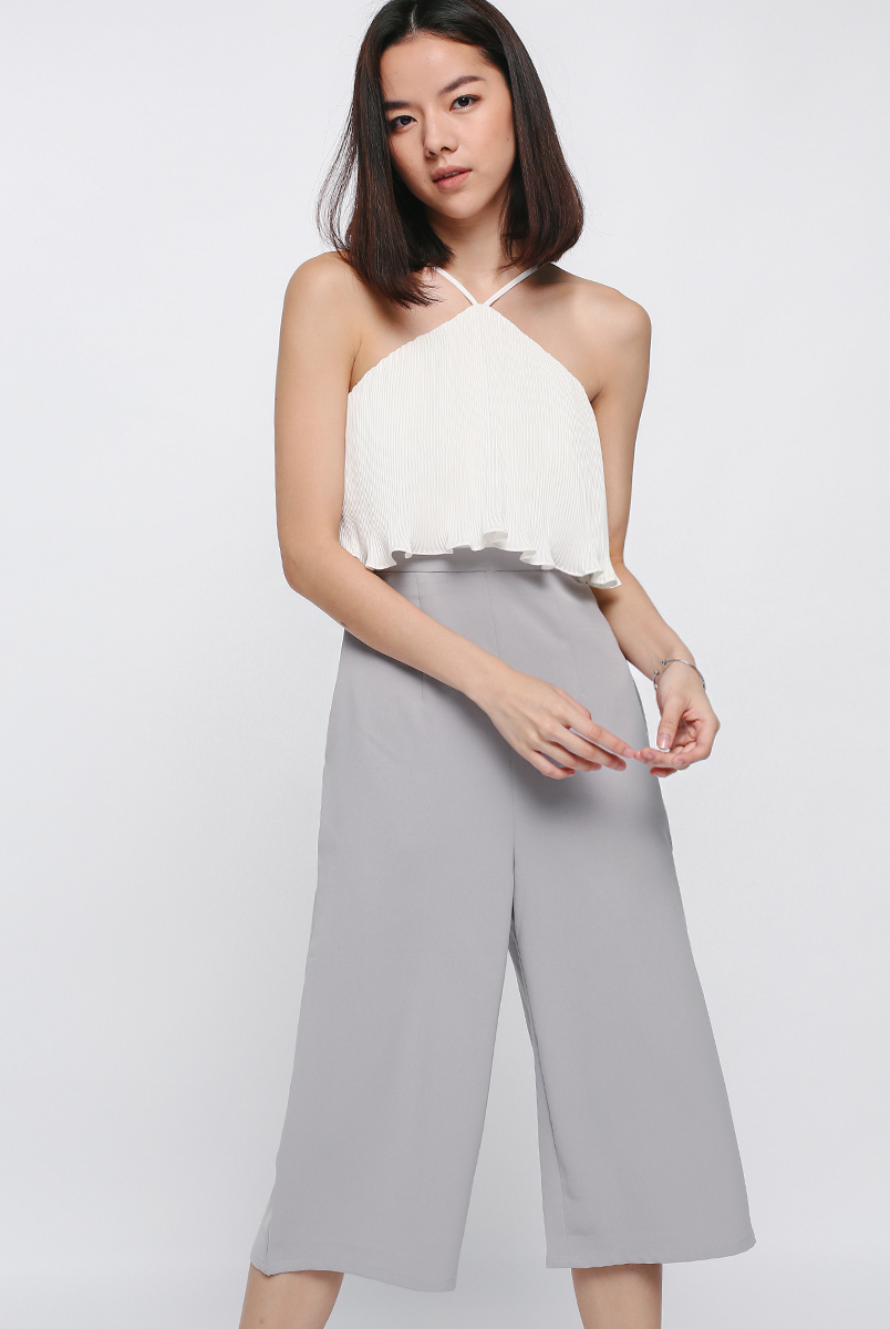 Jociera Pleated Layer Midi Jumpsuit
