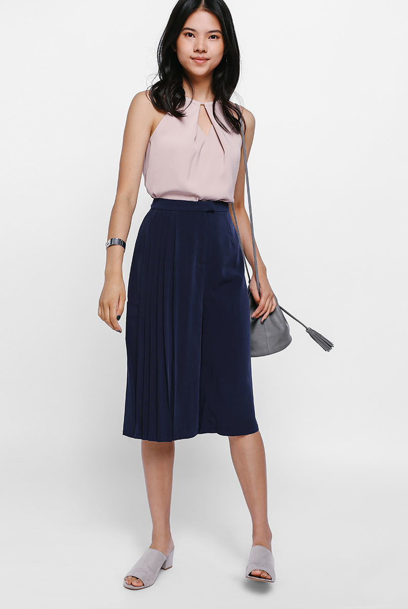 Cahoria Side Pleated Culottes