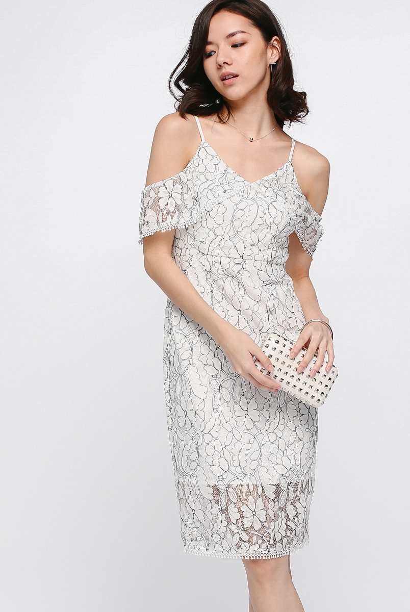 Marish Lace Off Shoulder Dress