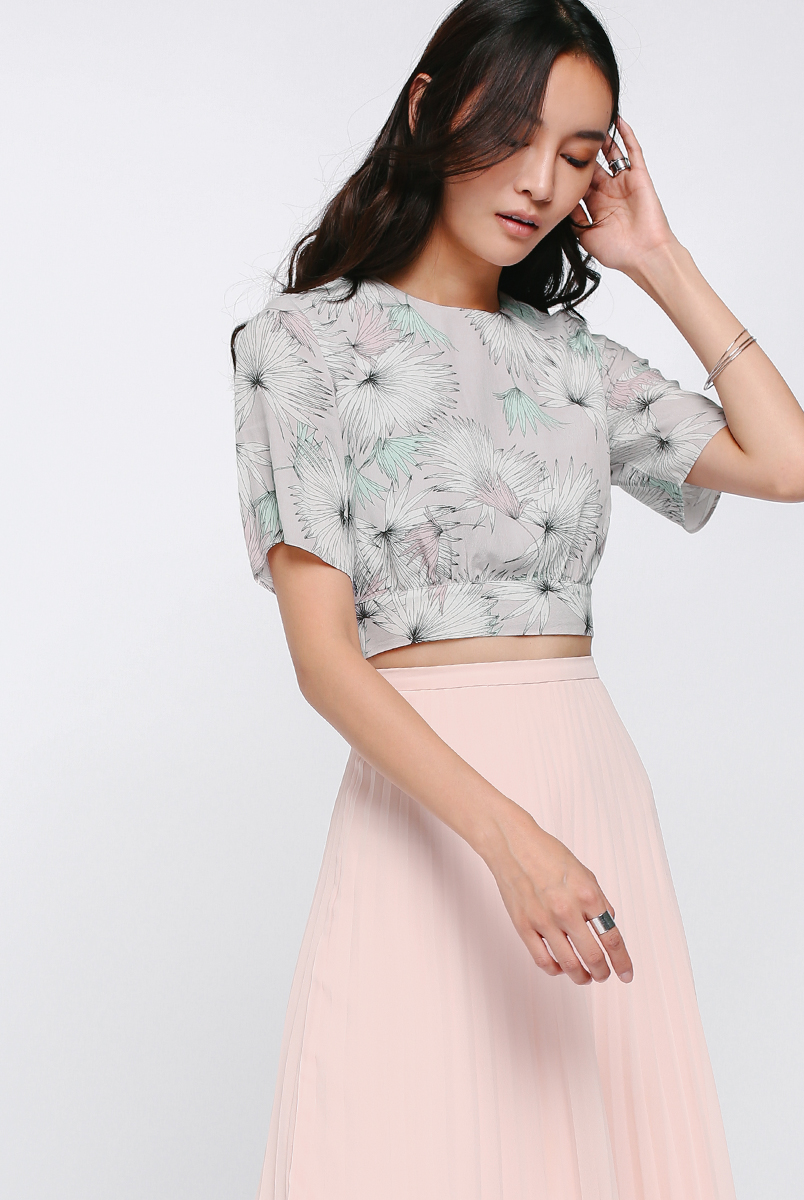 Helly Printed Cropped Top