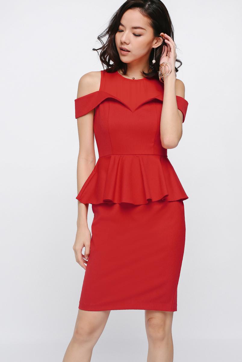 Adelfia Off Shoulder Peplum Dress