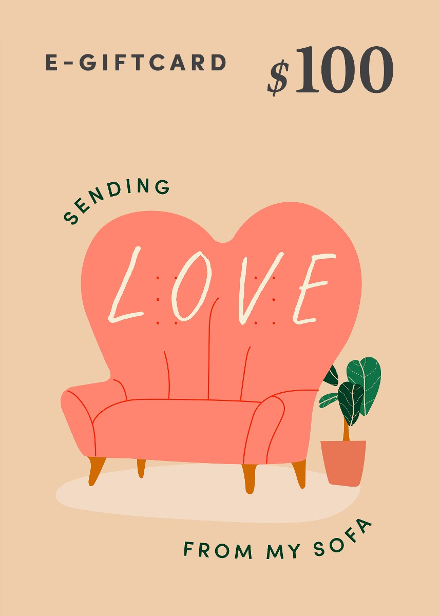 Love, Bonito e-Gift Card - Sending Love From My Sofa - $100