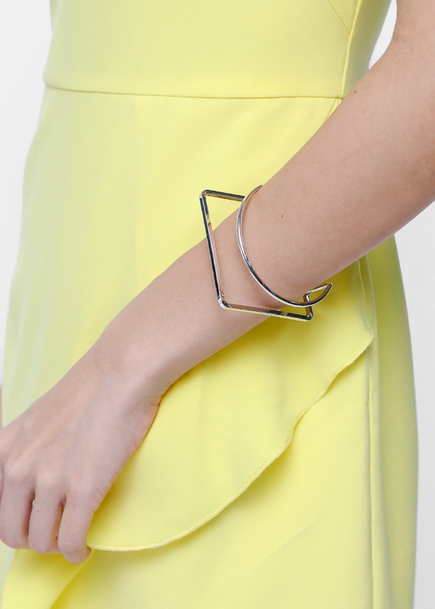 Bettina Geometric Cuff Bracelet