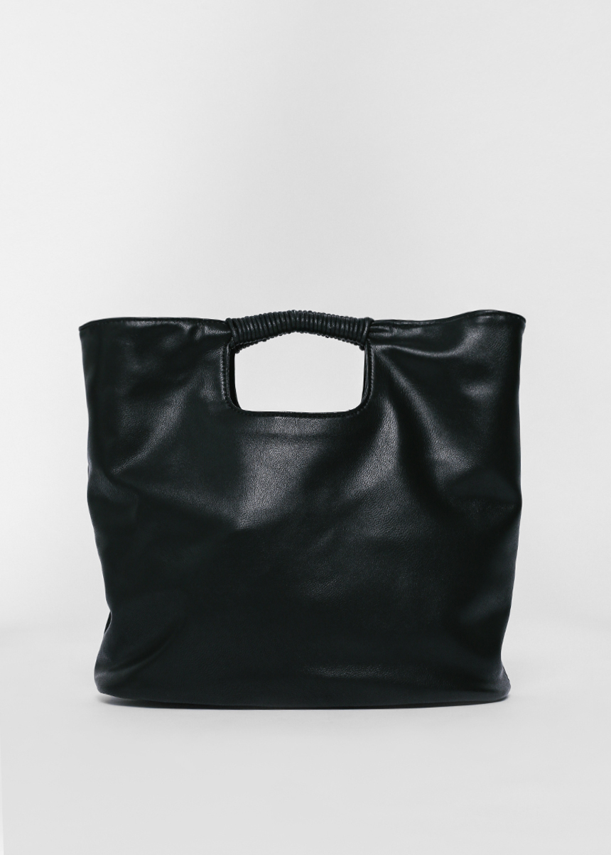 Biko Faux Leather Carryall Bag