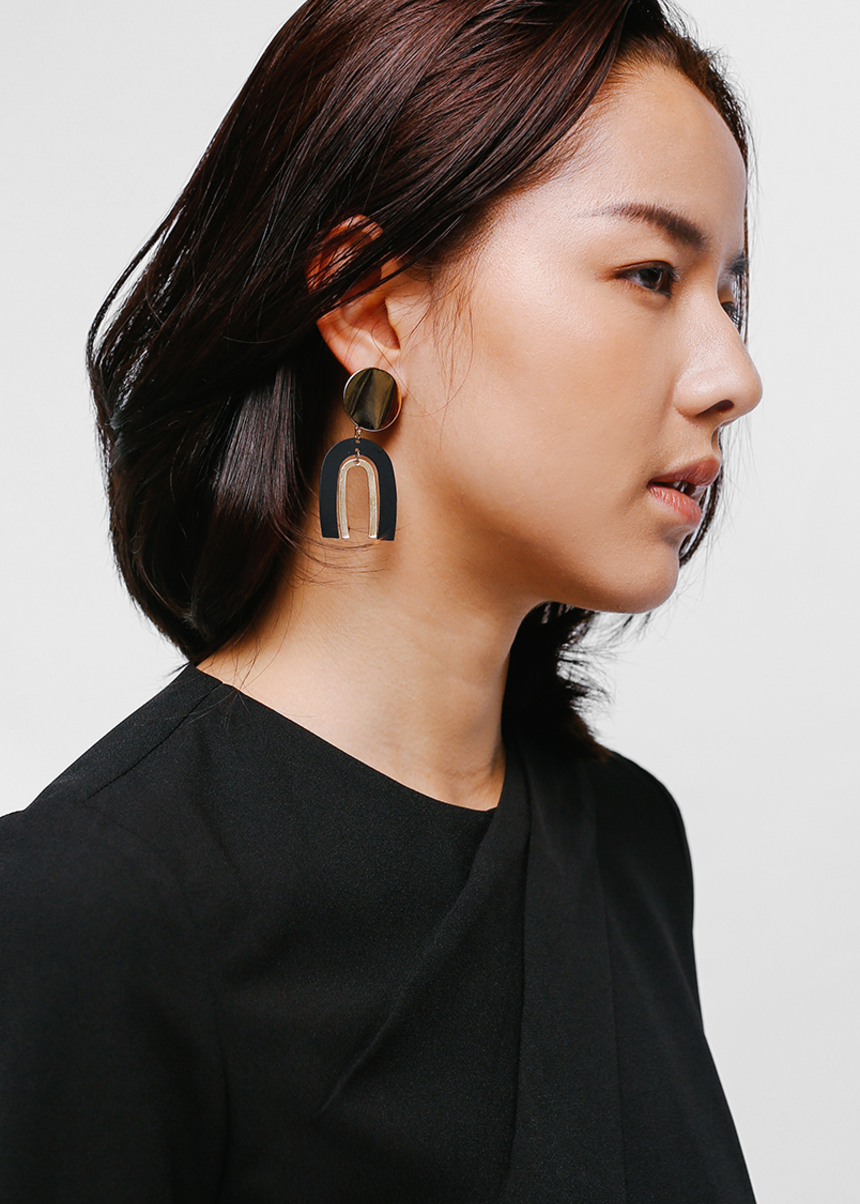 Eddixa U Shaped Drop Earrings