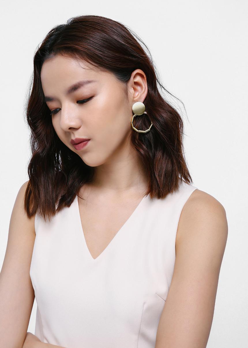 Eryelle Geometric Drop Earrings