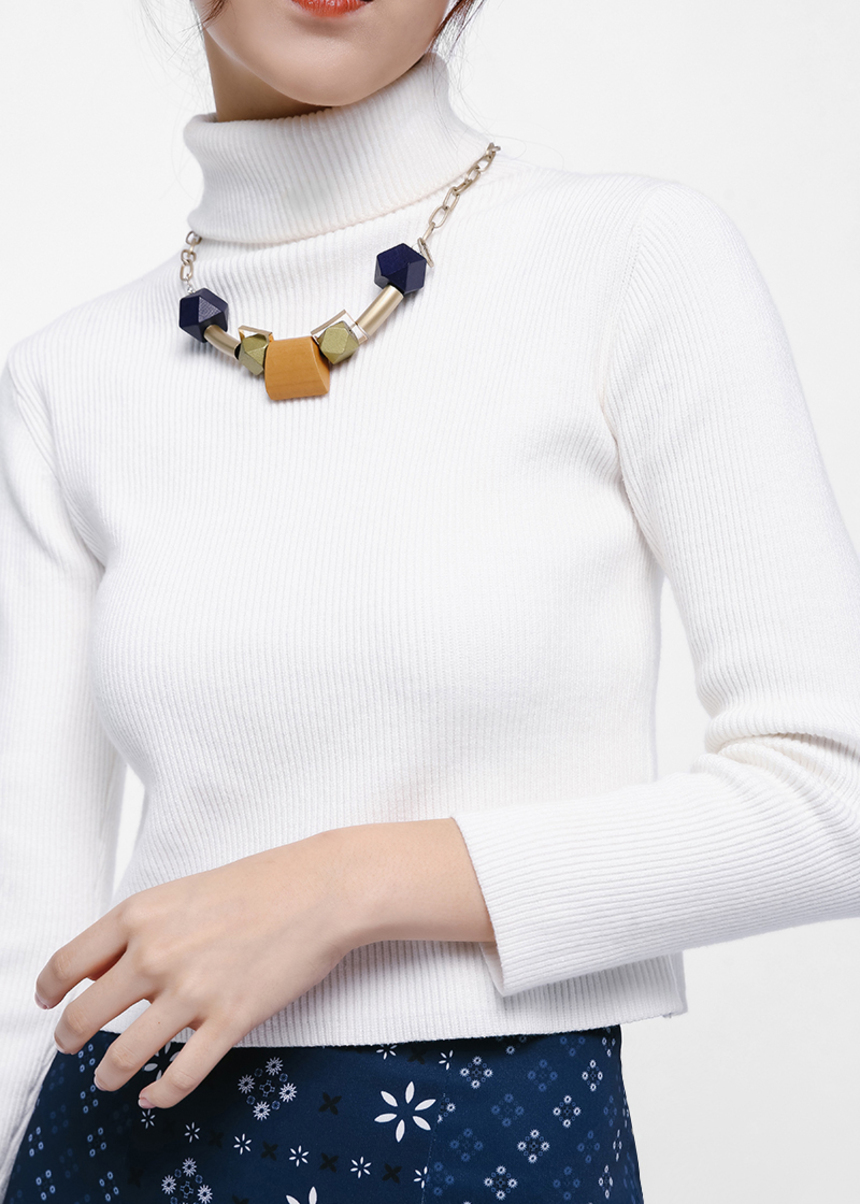 Trois Chunky Geometric Necklace