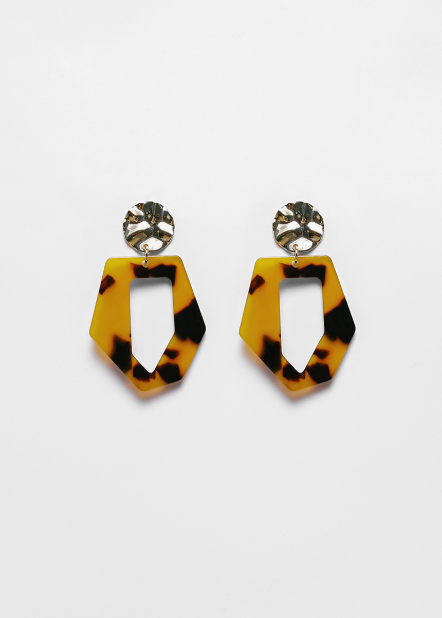 Marquis Tortoishell Geometric Earrings