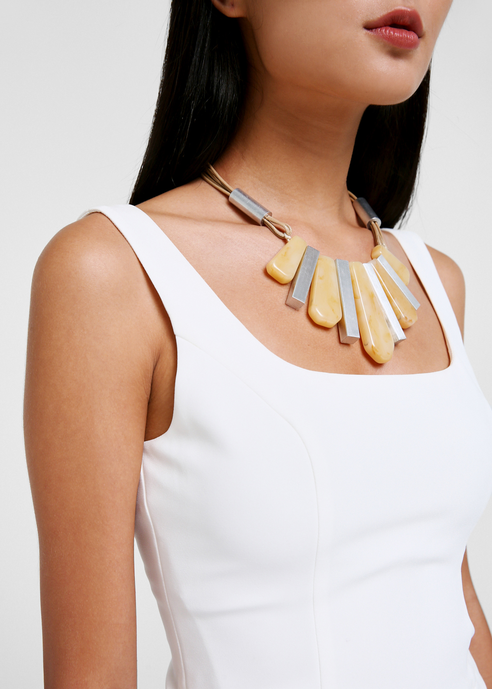 Caia Resin Drop Statement Necklace