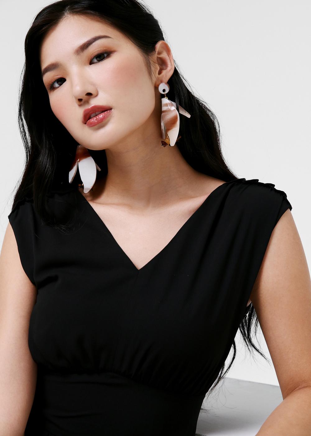 Georgette Floral Drop Earrings