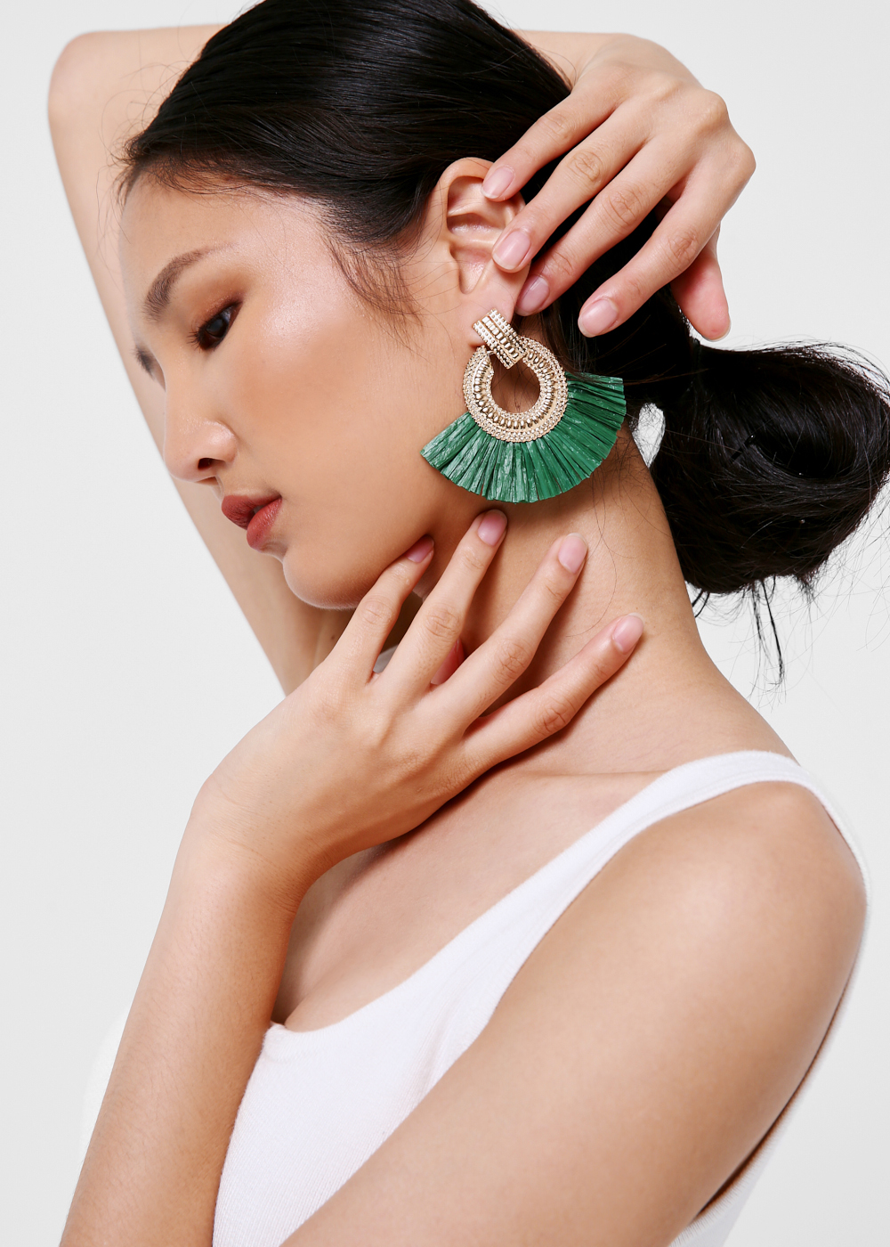 Bronwyn Tassel Fan Earrings