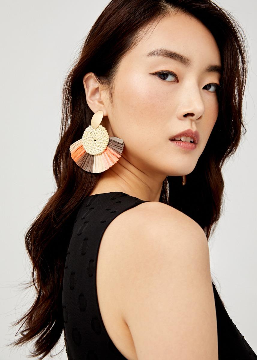 Lylah Tassel Fan Earrings