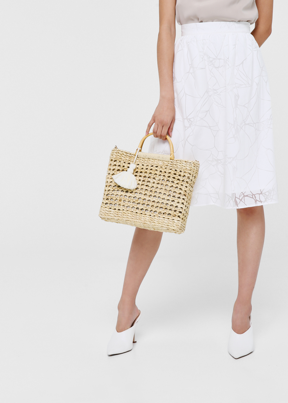 Malia Tassel Straw Bag