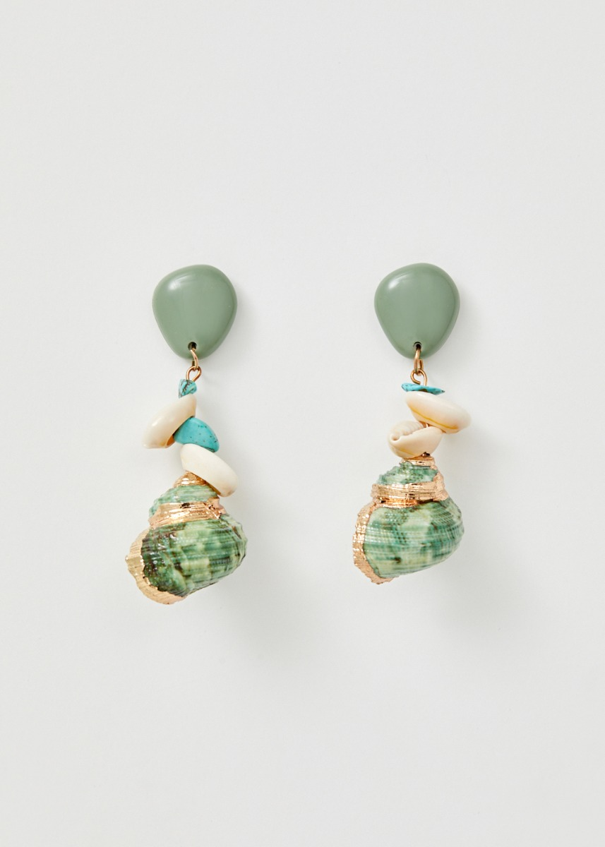 Maddison Shell Drop Earrings