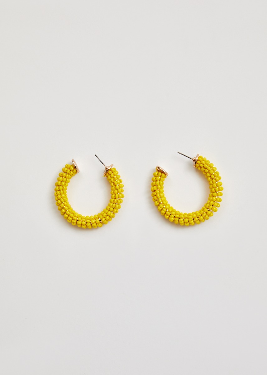 Esmeralda Beaded Hoop Earrings