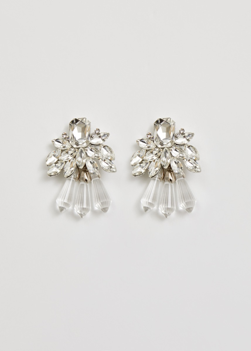 Lindsay Crystal Cluster Earrings