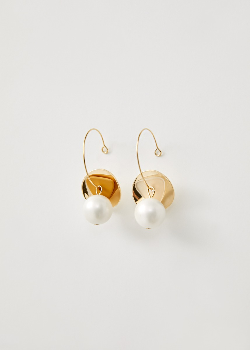 Kaydence Pearl Charm Hoop Earrings