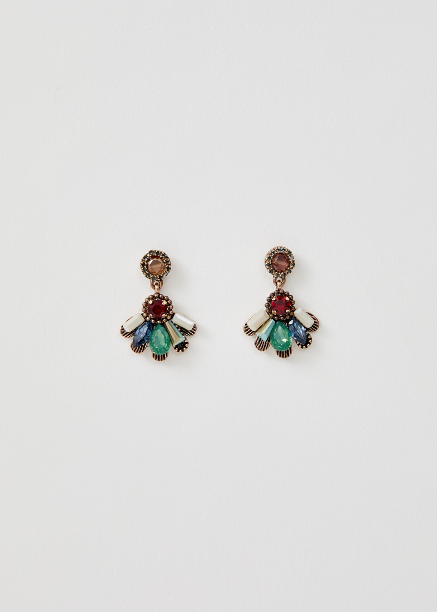 Jadyn Gem Cluster Earrings