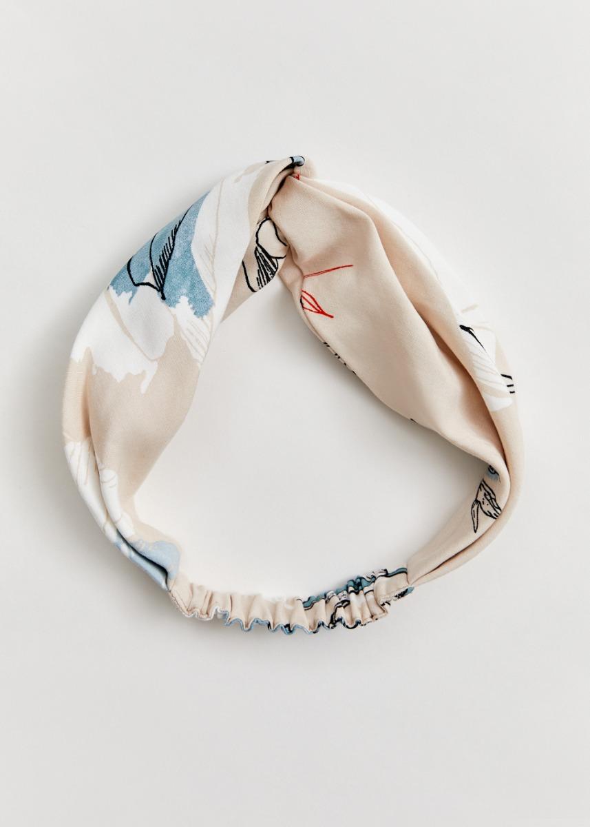 Miria Twist Headband in Chamomile Dream