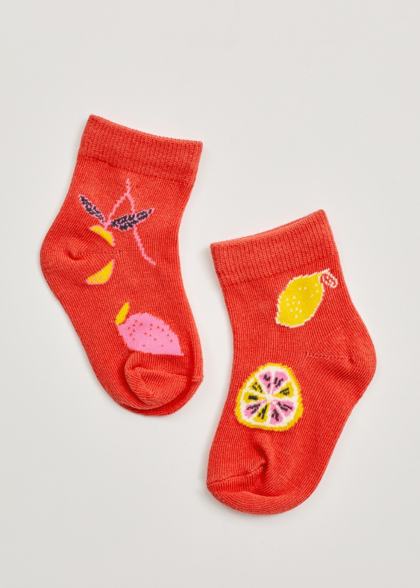 Aiko Woven Cotton Socks in Tutti Frutti (Kids)
