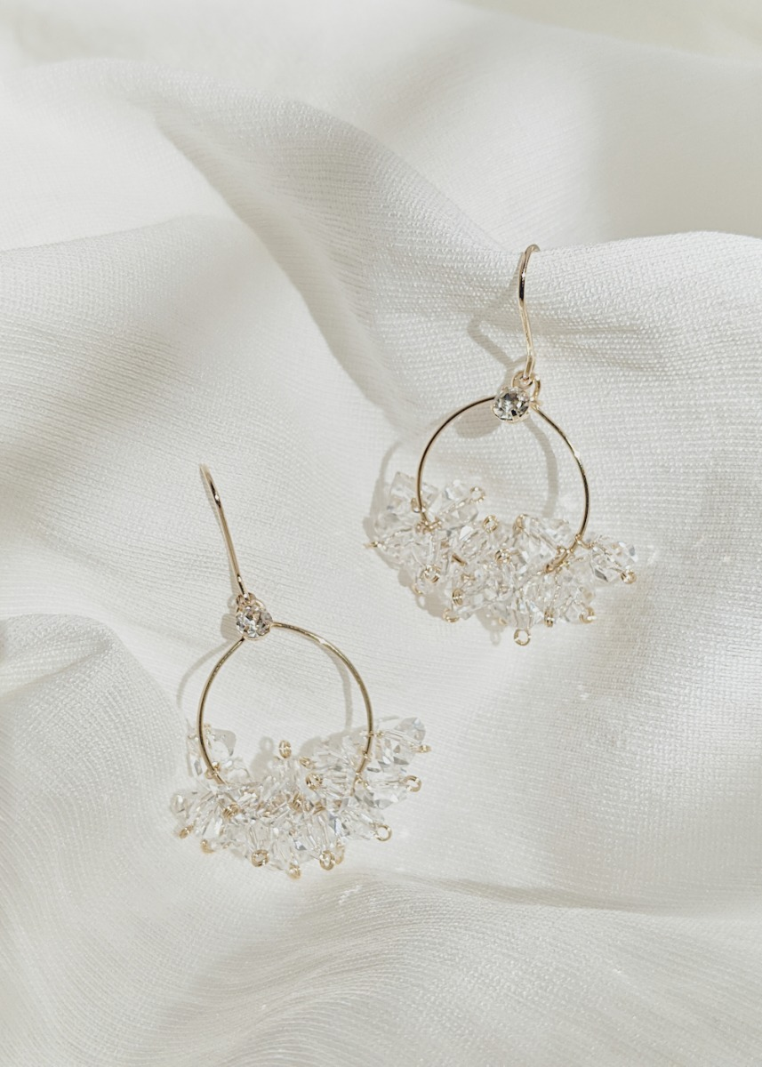 Allegra Crystal Cluster Earrings