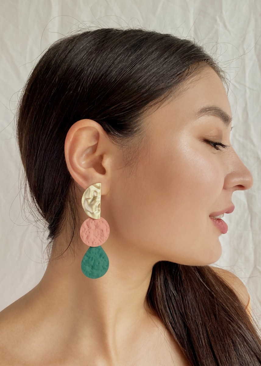 Althea Molten Metal Drop Earrings