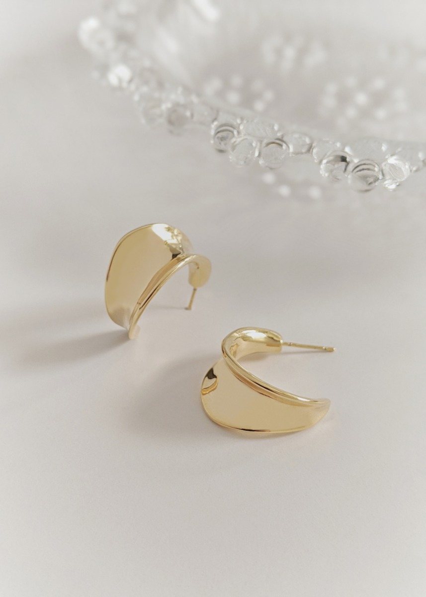 Odessa Silver Tone Hoop Earrings