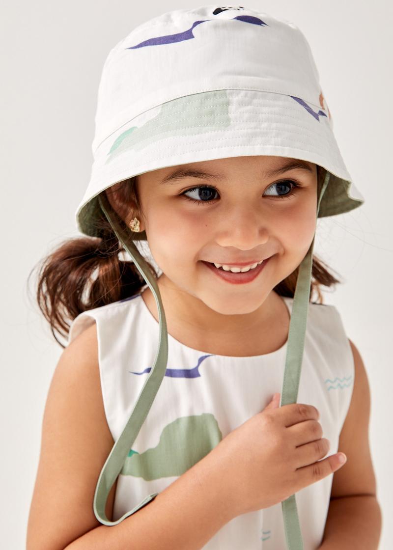 Elvy Reversible Bucket Hat in Summer Seascape