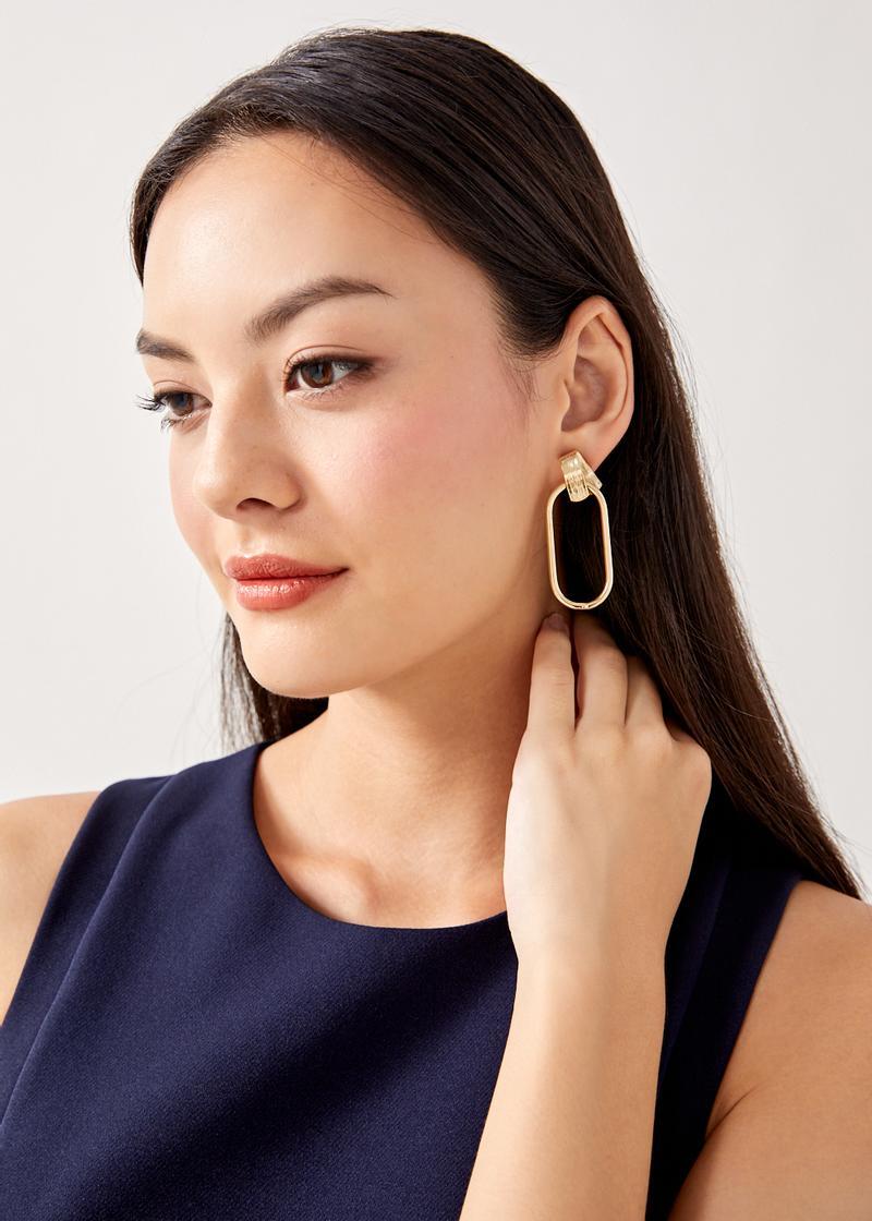 Astra Oval Drop Earrings