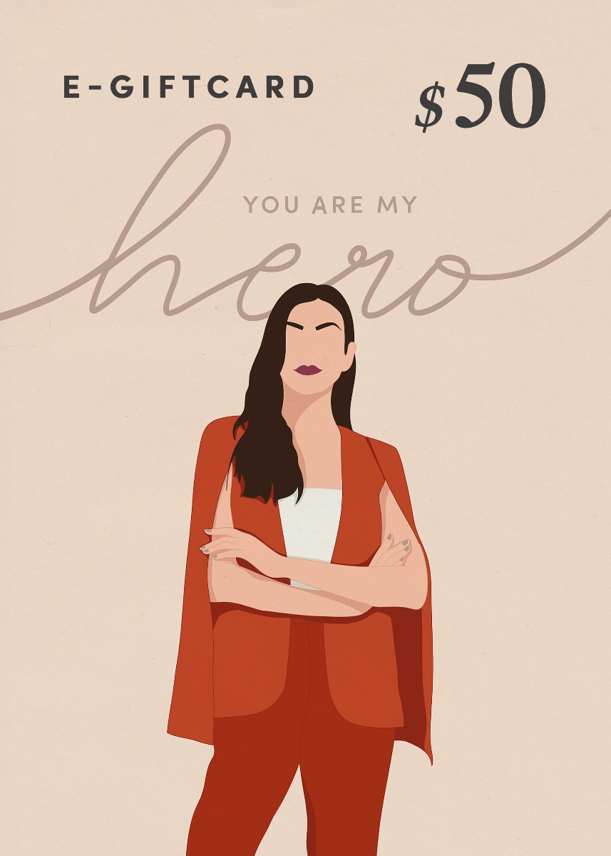 Love, Bonito e-Gift Card - You Are My Hero - $50