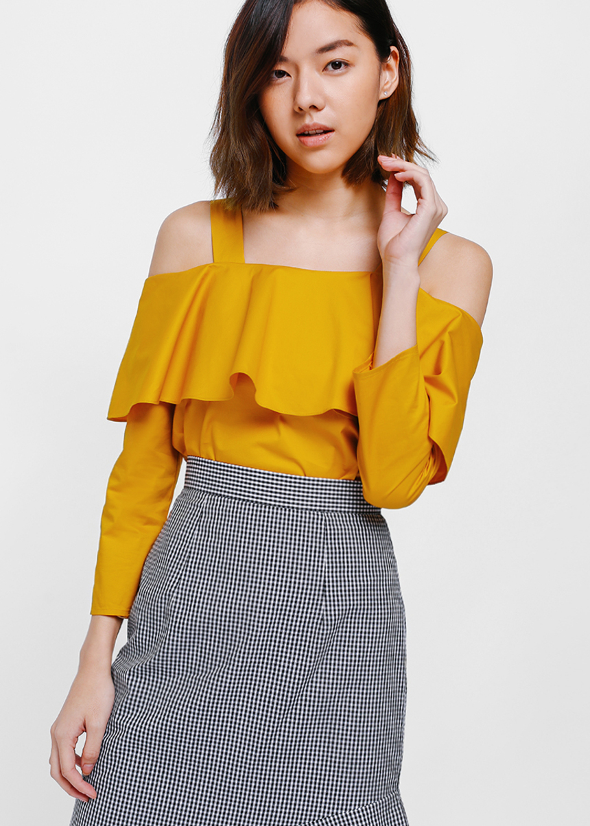 Naiya Ruffle Off Shoulder Top