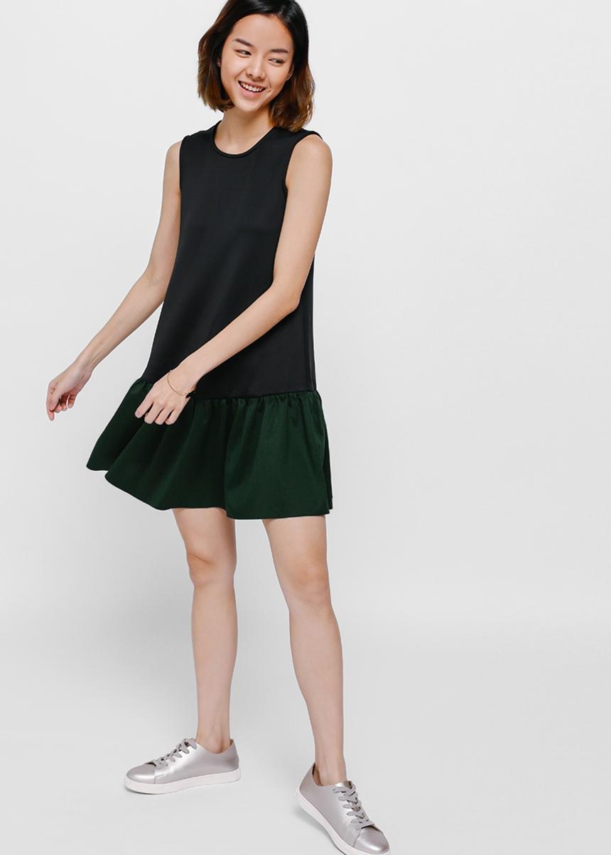 Fionka Contrast Frill Hem Dress