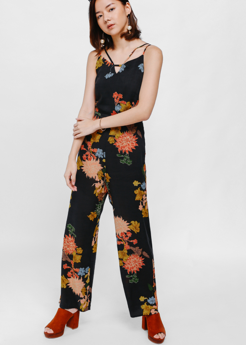 Giara Strappy Floral Print Jumpsuit