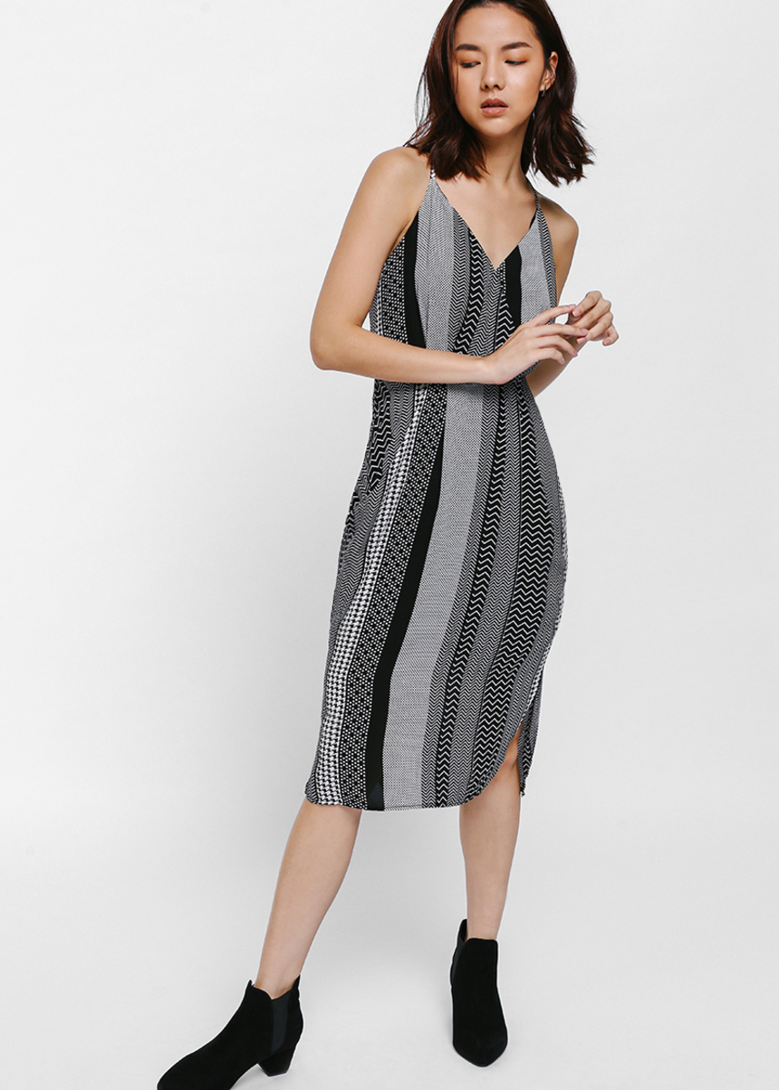 Ilyna Printed Drape Dress