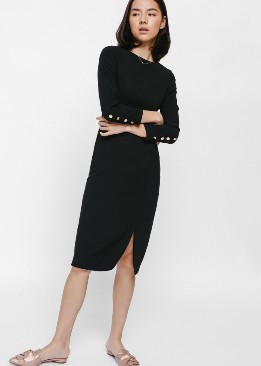 Malje Button Sleeve Midi Dress