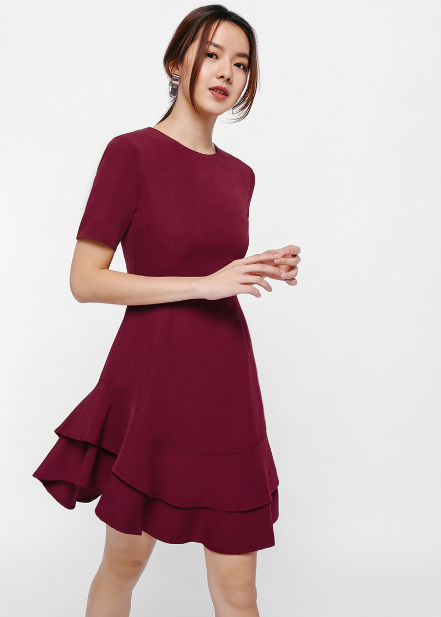 Gabella Layered Hem Dress