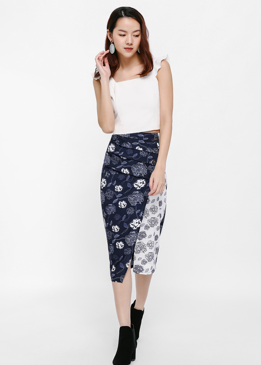 Callan Printed Pencil Skirt