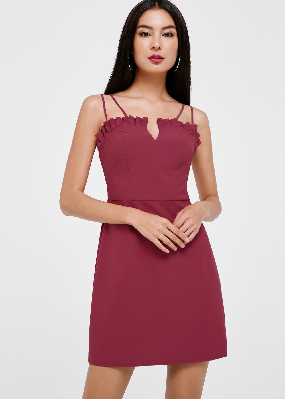 Liliana Ruffle Hem A-line Dress