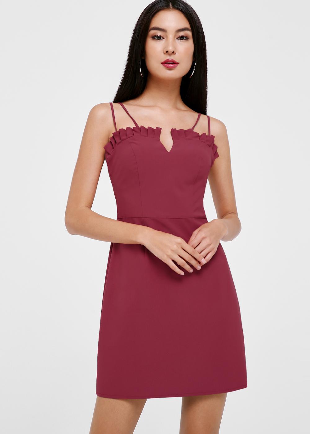 Liliana Ruffle Hem A-line Dress