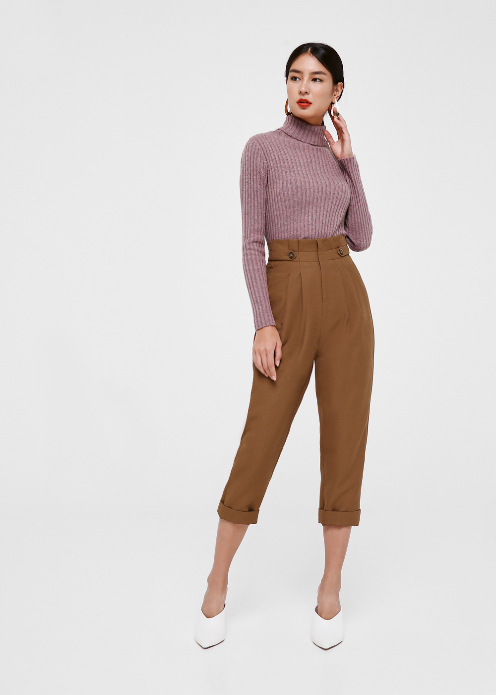 Sana Pleated High Waist Pants
