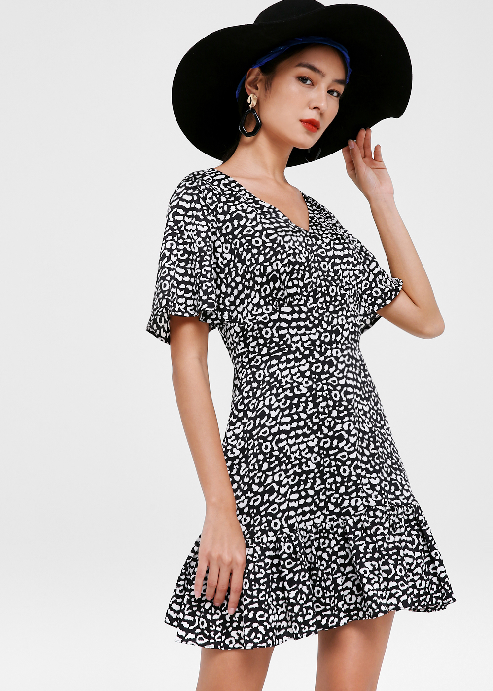 Audrina Flare Hem A-line Dress
