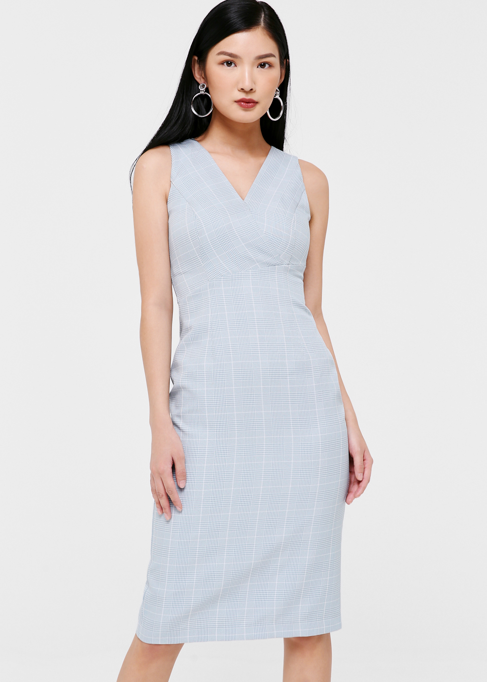 Fayette Checkered Midi Dress