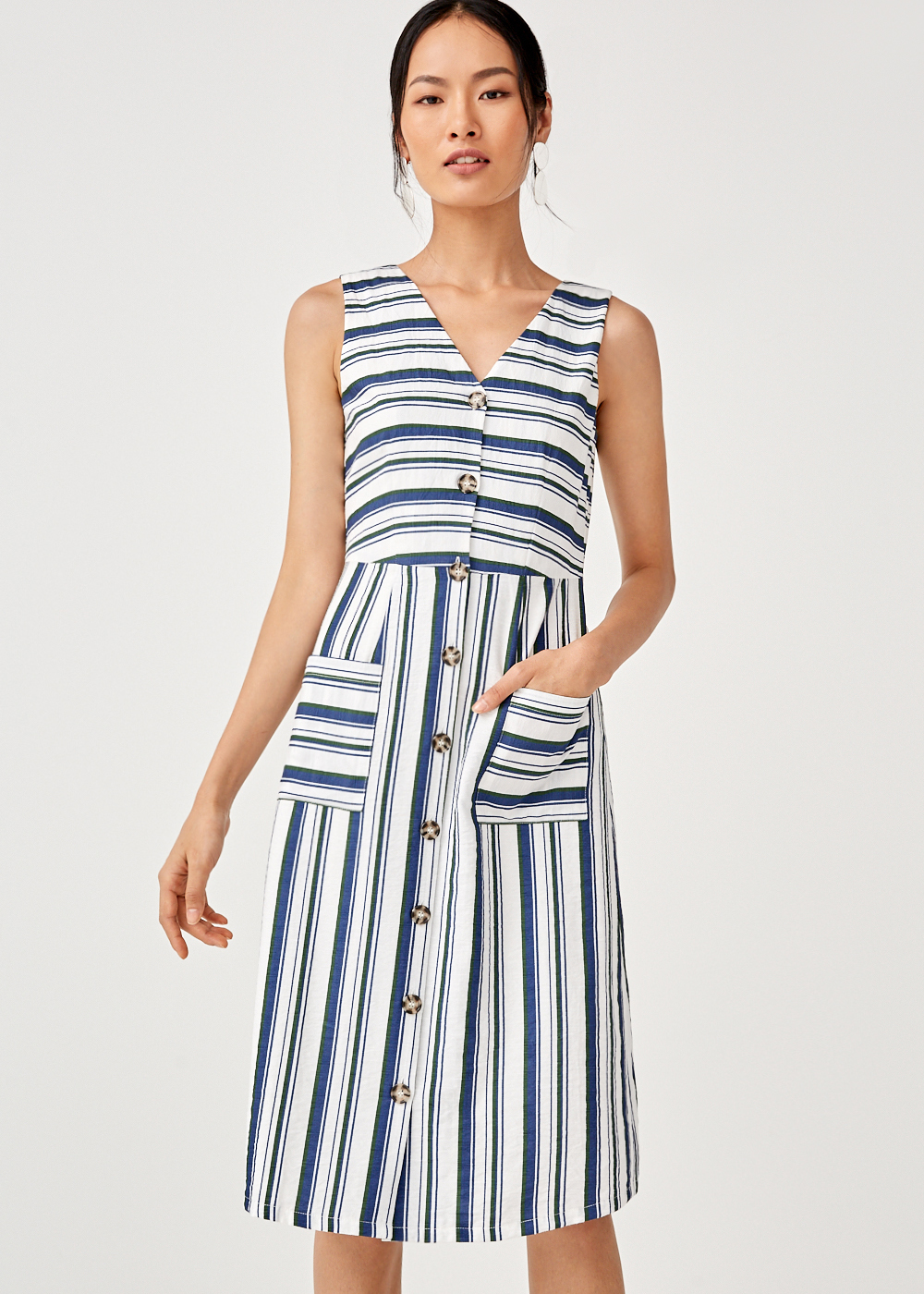 Miah Tie Back Midi Dress