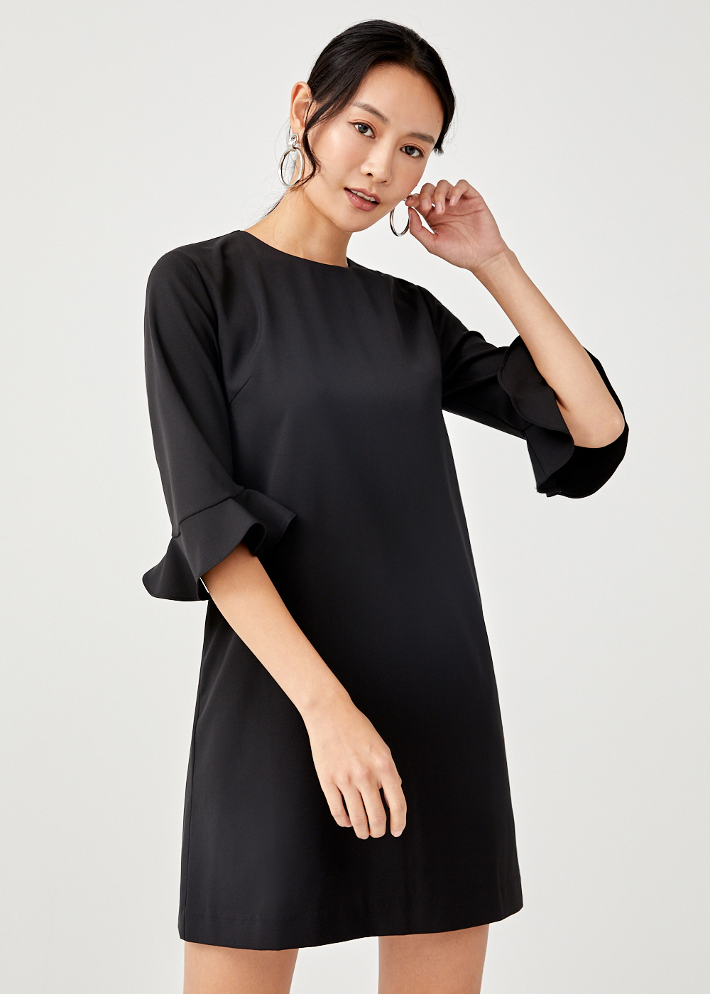 Eudora Ruffle Hem Shift Dress