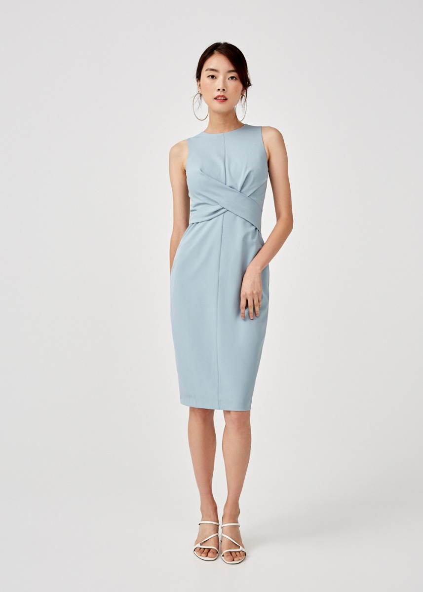 Federica Twist Front Bodycon Dress