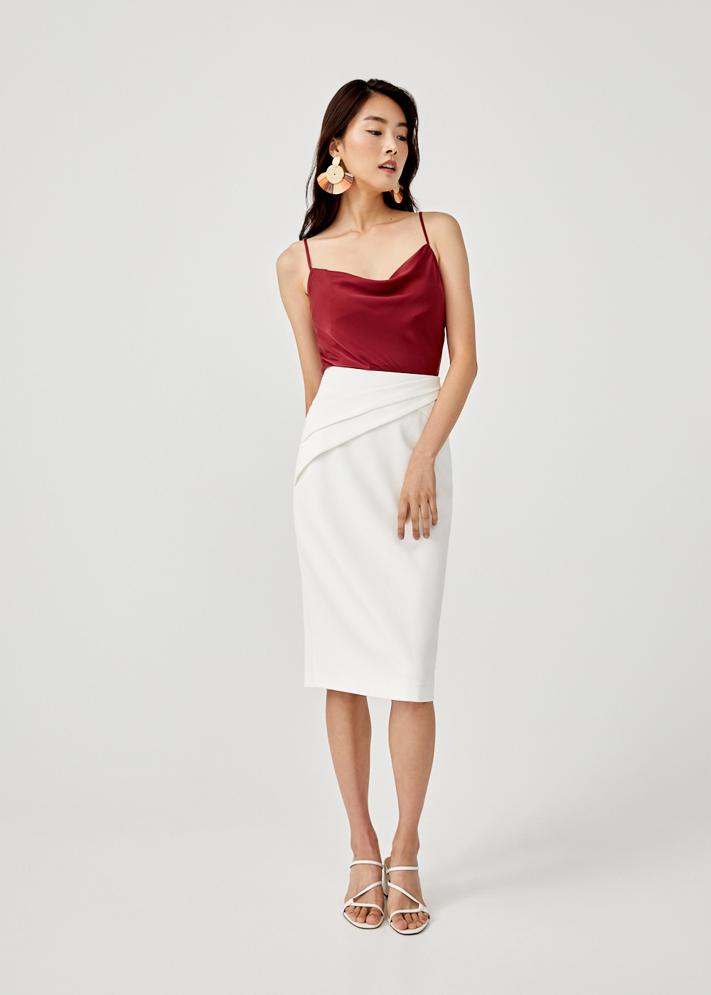 Flannery Pleated Pencil Skirt