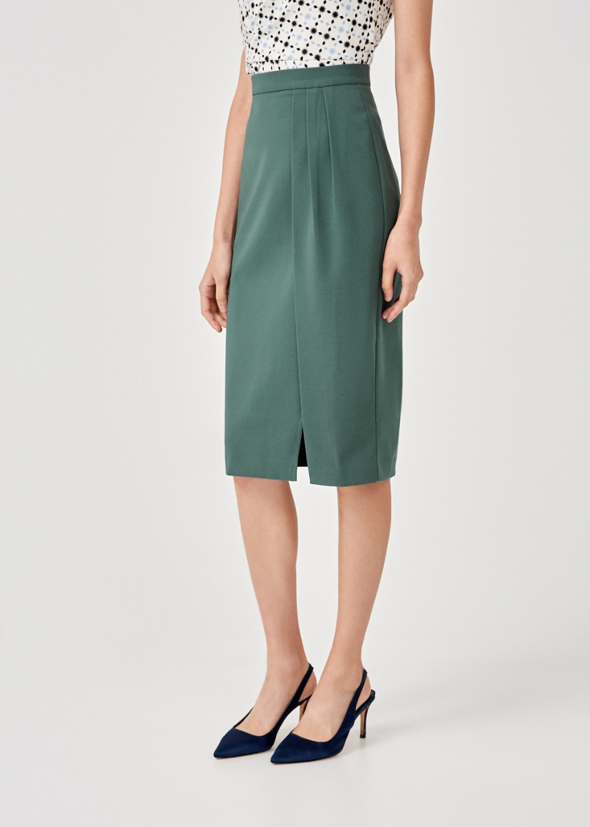 Ginevra Slit Hem Pencil Skirt