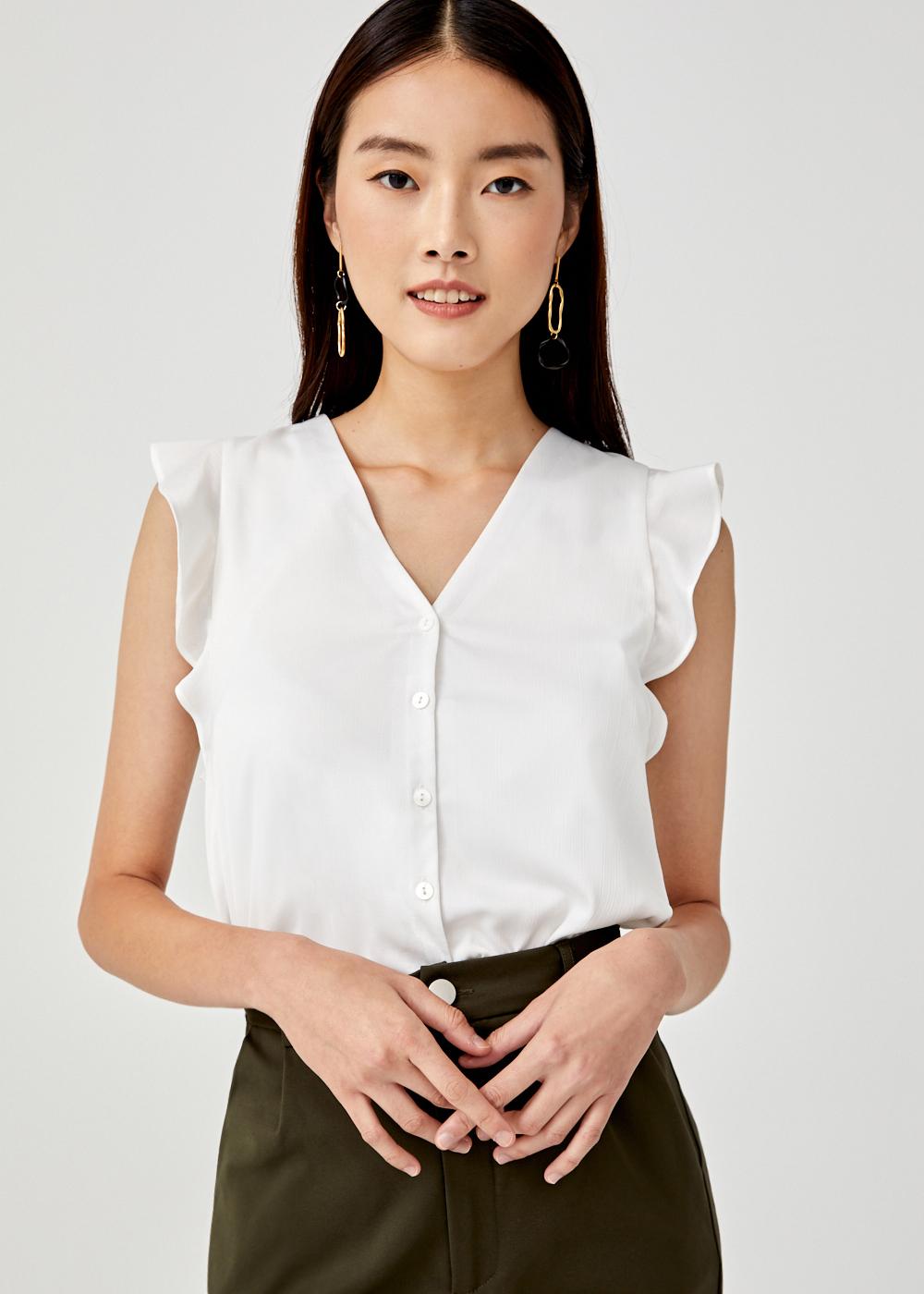 Mamie Flutter Sleeve Shirt