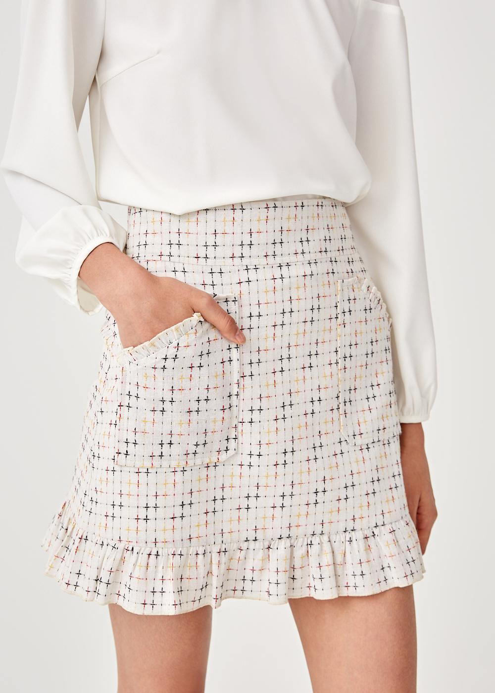 Saffron Ruffle Frill Skirt
